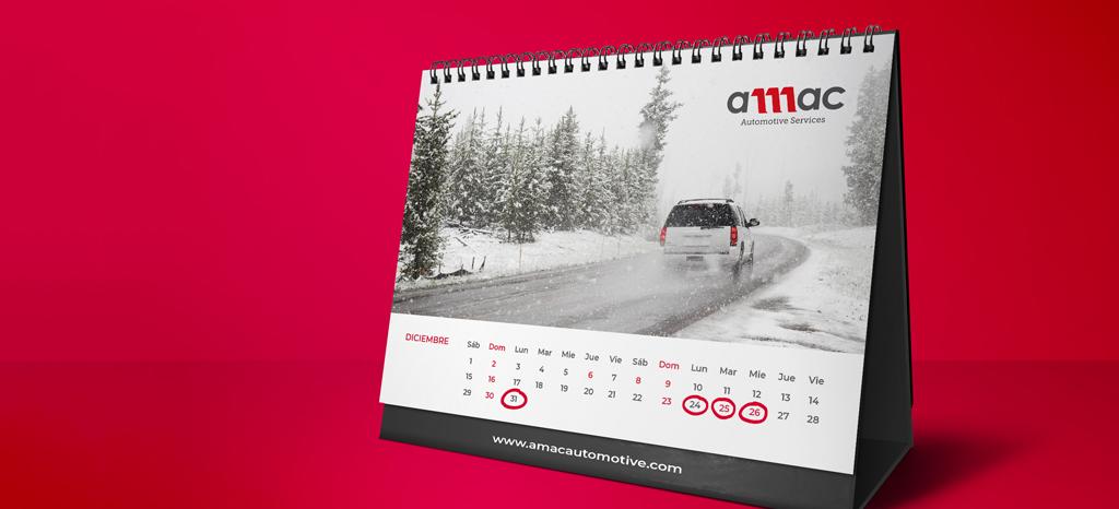 Calendario en Navidad